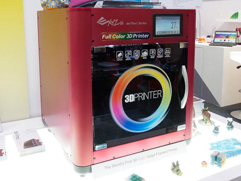 ↑フルカラー印刷できる3Dプリンター「da Vinci Color」