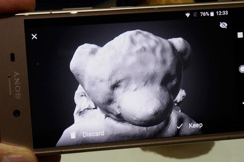 ↑Xperia XZ1シリーズはカメラが3Dスキャナにもなる