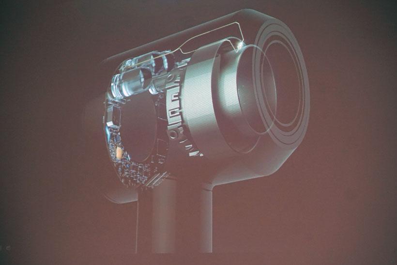 ↑吹き出し口付近のセンサーで、温度を測定