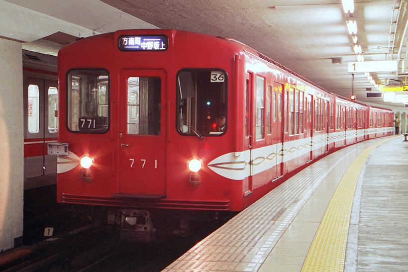 ↑丸ノ内線旧500形車両