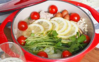↑塩レモン鍋つゆを使ったイメージ