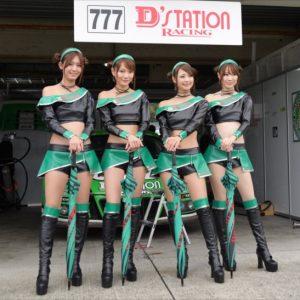 D'station Racing (左から)中村比菜、森園れん、安藤麻貴、小越しほみ