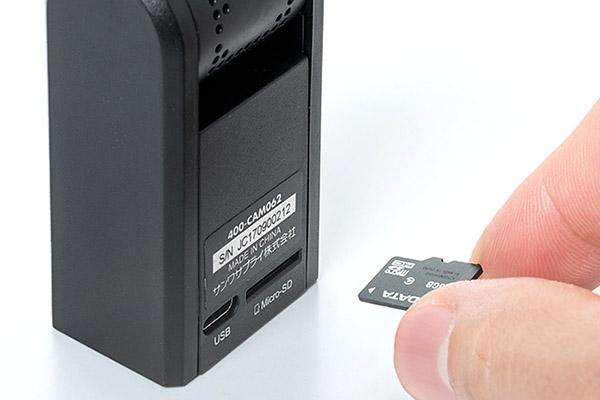 ↑マイクロSDカードに記録