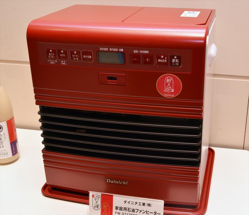 ↑家庭用石油ファンヒーター FW-3717SDR(新之助カラー) オープン価格。10月30日からダイニチWebShopのみで10台限定発売されるレア商品です