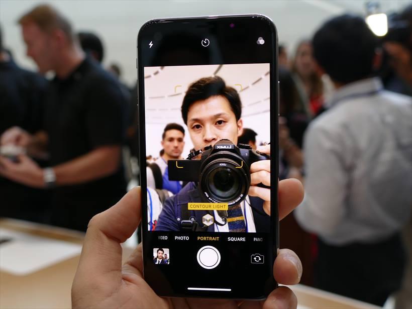 ↑iPhone Xはインカメラでもポートレート