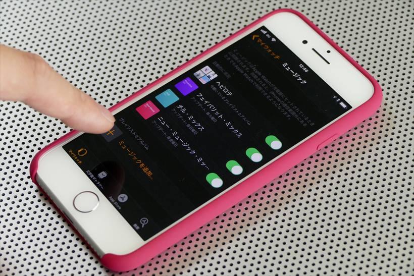 ↑楽曲の同期はiPhoneの「Apple Watch」アプリから行う