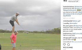 これが新時代のゴルフかも……「二人三脚」的なスーパーショットがすごい!