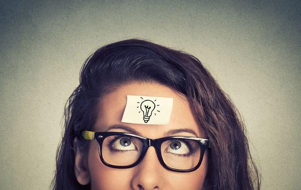 44098315 - young woman has a good idea