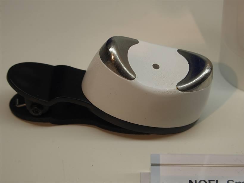 ↑スマホと連携する美顔器「NOFL Smart」。想定実売価格は1万8000円(税込)