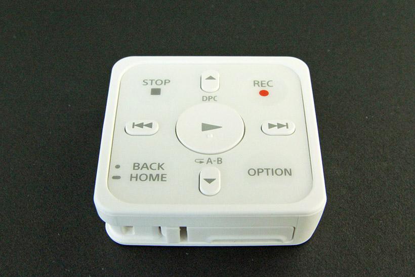 ↑遠隔操作ができる専用リモコンが付属