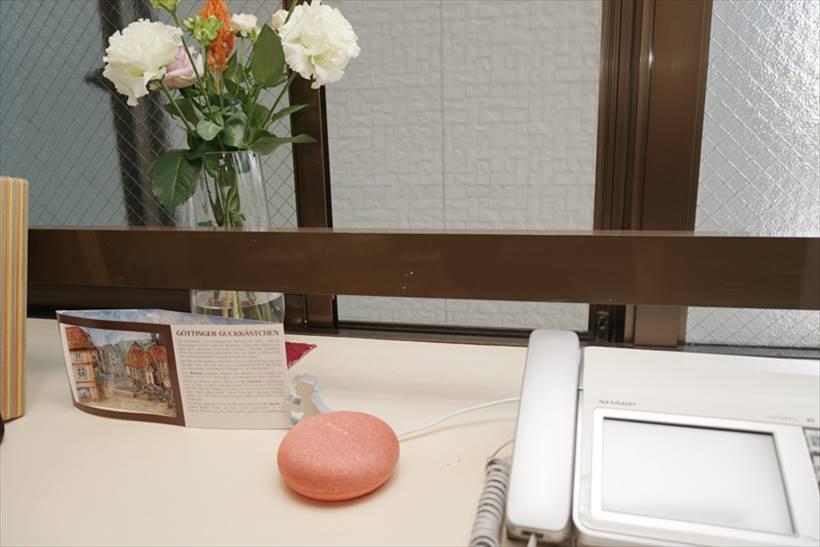 ↑出窓に置いても様になるGoogle Home Mini