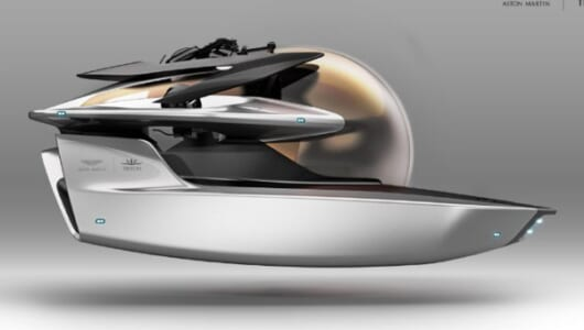 ボンドカーの未来のカタチ? アストンマーティンの潜水艦コンセプトが発表
