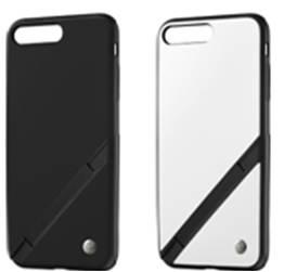 ↑ソフトバンクセレクション「INVOL Stand for iPhone 8 Plus / 7 Plus」 ブラック、ホワイトの2色。実売価格は4320円