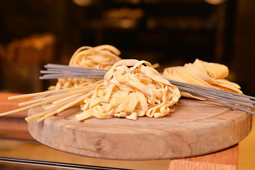 ↑パスタ麺は10種類から選べます。細い麺、太い麺、ショート型など多彩