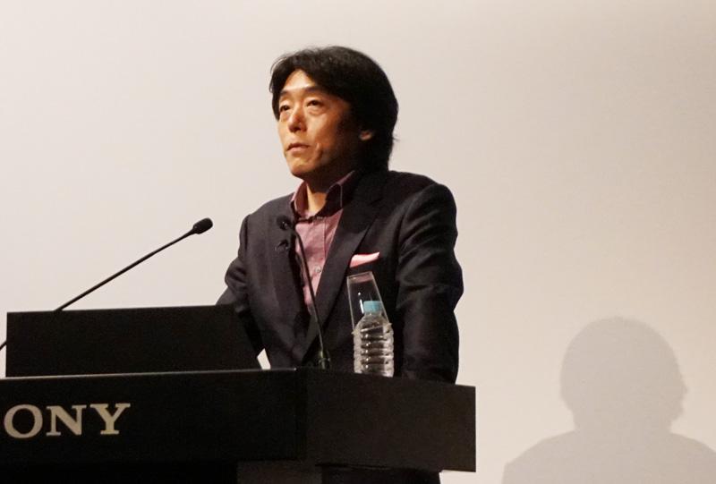 ↑ソニーの川西氏がaiboの新機能を解説