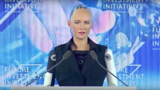 世界初、ロボットに市民権! 人型ロボット「ソフィア」はブラックジョークがお得意な模様……