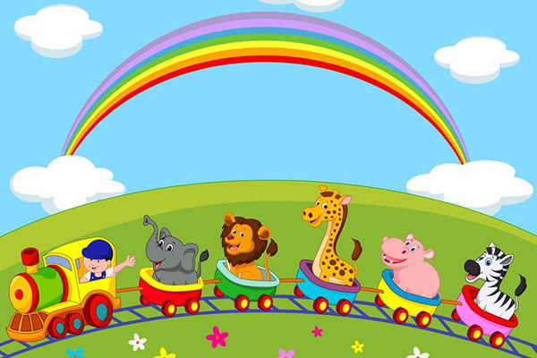 22637327 - animal train cartoon