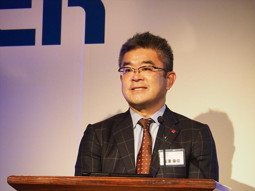 ↑「日本人をさらに元気にするのが、水溶性食物繊維を多く含んだ大麦だ」と語るはくばくの長澤重俊社長