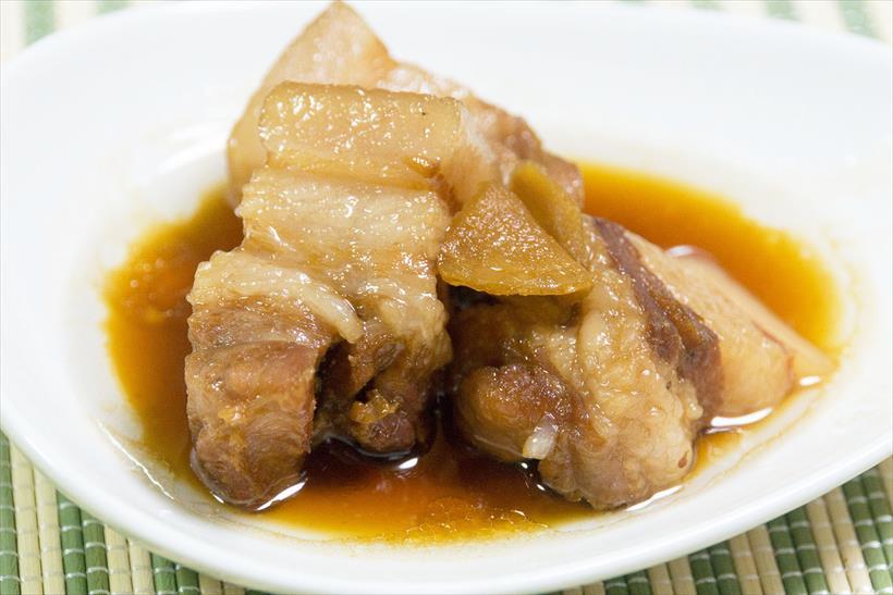 ↑豚肉の角煮のできあがり