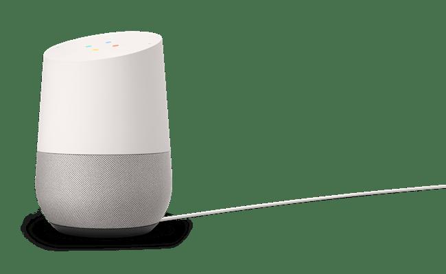 Google Homeのサイズは直径96.4mm、高さ142.8mm。利用にはWi-Fi環境が必要になる。(写真提供/Google)