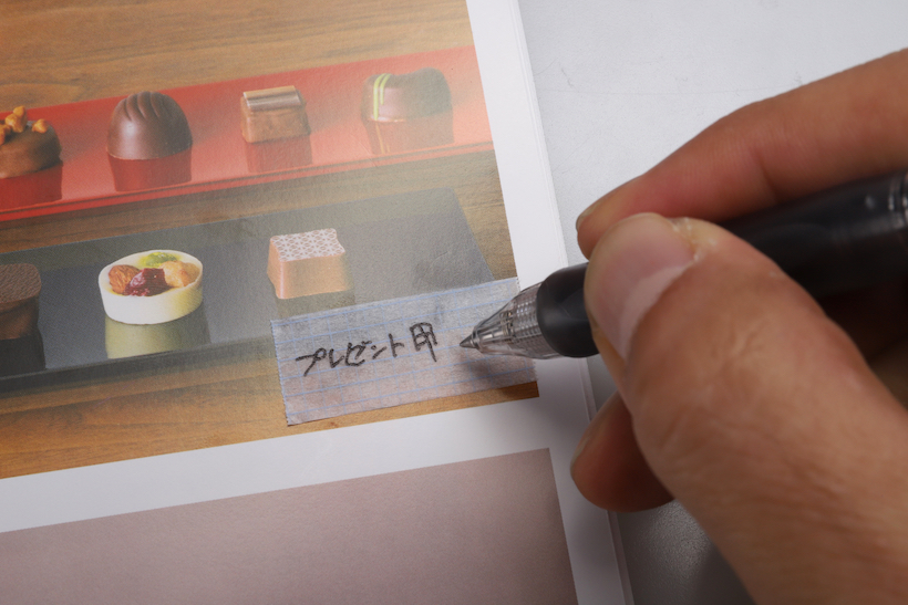 ↑水性ペンで書ける意外の使い勝手は、通常のマステとほぼ同じ