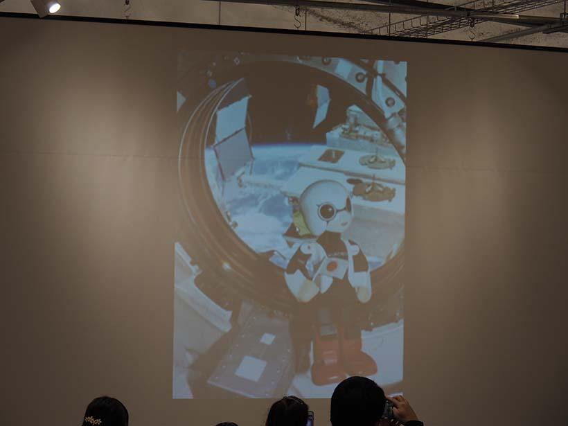 ↑宇宙ステーションで撮影したキロボ。現在販売しているキロボミニのオリジナルとなる