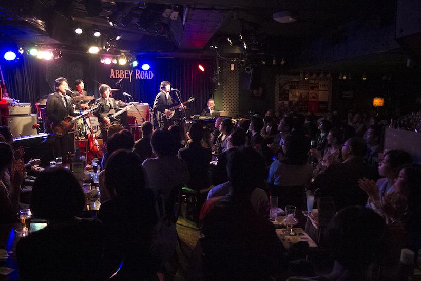 ↑ザ・パロッツによるザ・ビートルズの楽曲が、会場を引き込む