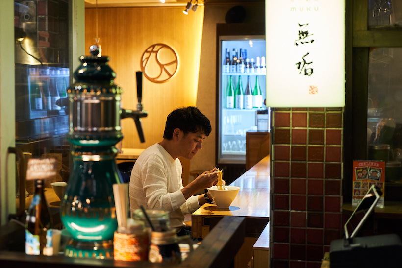 ↑ドイツのビールやソーセージといった本国の名物も味わえるが、実は日本酒も充実。意外なことに「新横浜ラーメン博物館」は飲める施設でもあるのだが、日本酒好きなら同店は要チェックといえよう