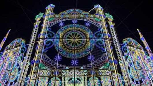 神戸のルミナリエで使用されたLED球は、なんと40万個