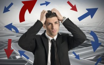 23488041 - concept of confused way of a businessman
