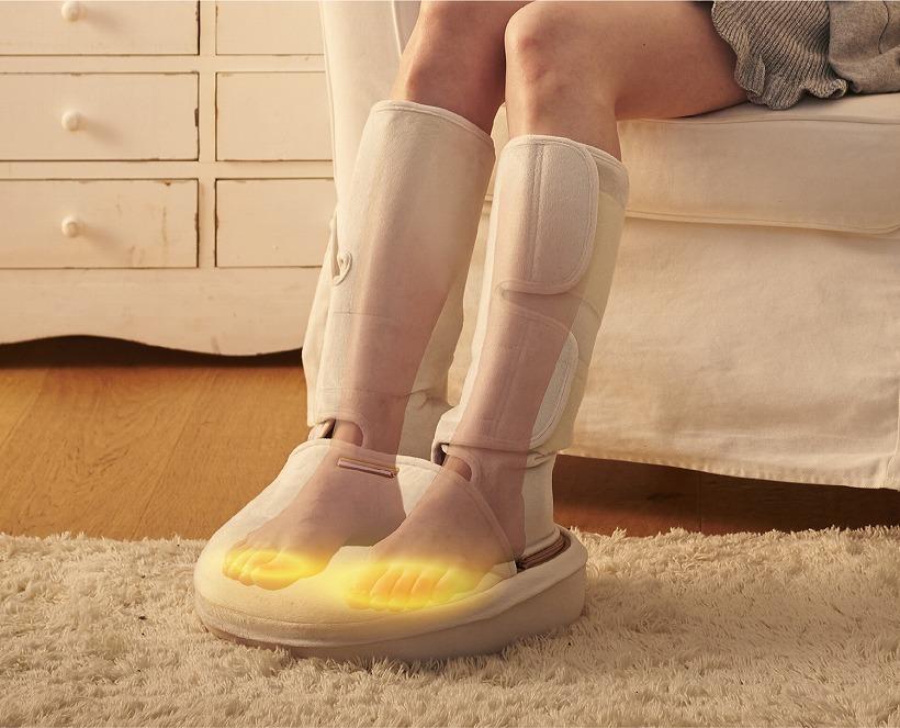 ↑足先を温める「足先ホッとヒーター」