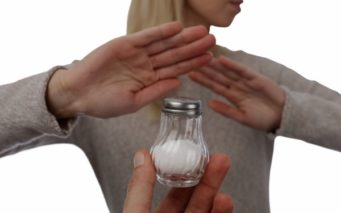 77178469 - woman refusing salt. health care concept, hypertension prevention