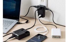 スマホもデジカメもノートPCもコレ1台で充電! USB Type-C搭載のコンセントタップ付きUSB充電器