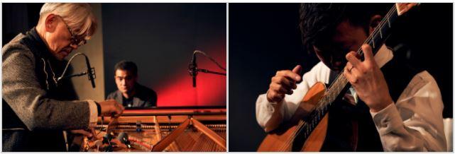 授賞式後に行なわれたライブパフォーマンスでは、坂本龍一氏と藤倉大氏が事前打ち合わせのない即興演奏を披露。独特な世界観に緊張感すら漂った。