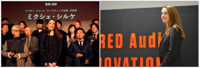 昨年は日本着任早々にプレゼンターを務めたという、アウディ・ジャパンのシルケ本部長。今年の受賞者も多彩で同賞の魅力が増したとコメント。