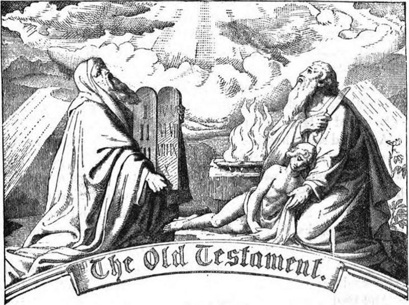 『旧約聖書』は古代イスラエル史、モーセの律法、預言者の言葉などを含む聖典。画像は19世紀の絵。