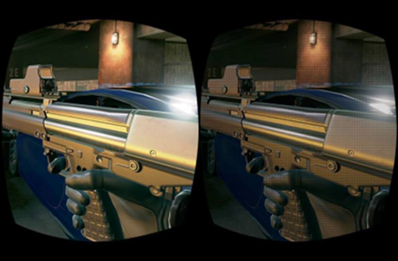 ↑StarVRのシミュレーション画像。左が5K、右が2K