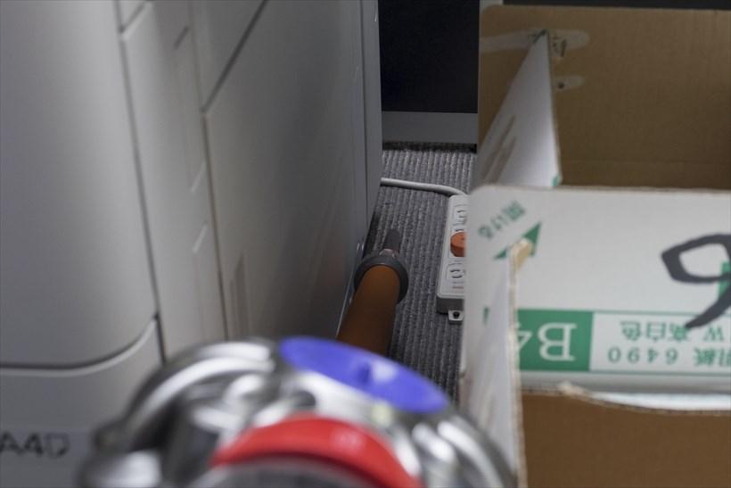 ↑延長管+隙間ノズルでコピー機の横の気になる隙間もカンタンに掃除できました