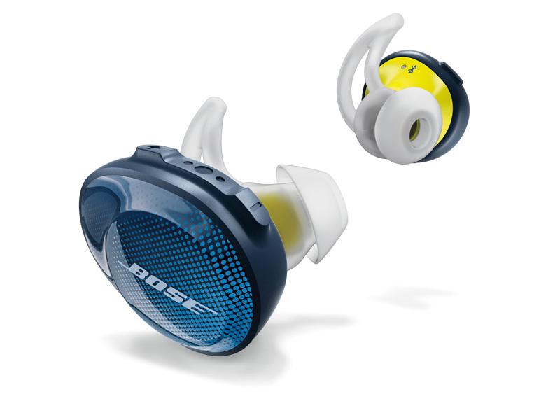 ↑ボーズ「SoundSport Free wireless hedphones」は接続性や装着感に抜群の安定感を誇る