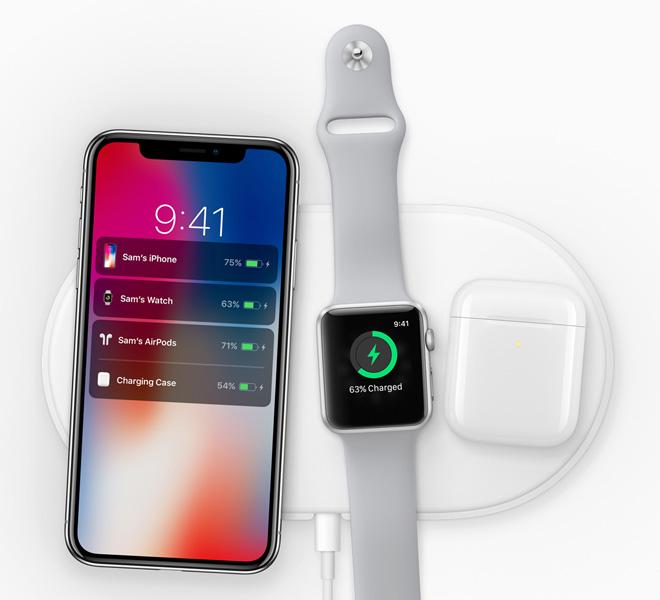 ↑アップル純正のワイヤレス充電パッド「AirPower」でAirPodsの次期モデルはチャージができるようになりそうだ