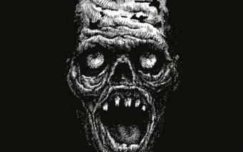 41652643 - zombie head hand drawn. vector illustration
