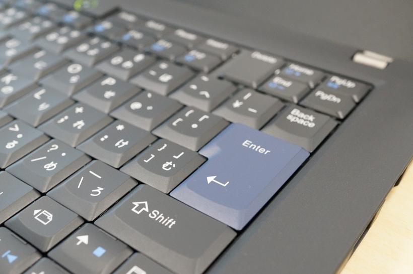 ↑7列のキーボードを搭載