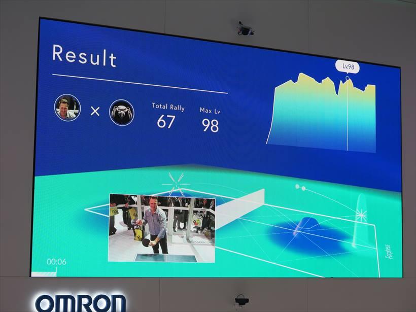 ↑ゲームが終わると、ゲームの分析がモニターに表示されていた