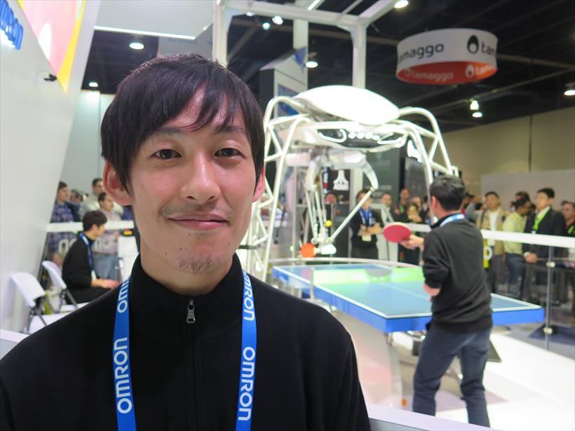 ↑フォルフェイスは若い世代が中心となって開発している。開発チームの1人である小泉昌之氏