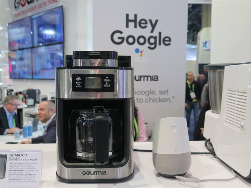 ↑調理家電メーカーのGoumiaもGoogleアシスタント対応をアピール