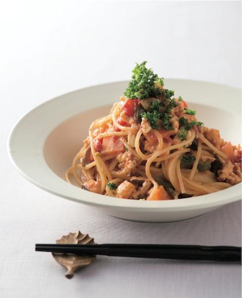 """本文中に登場する「スパゲッティ精進ミートソース」。このソースがあれば""""精進イタリアン""""のバリエーションが広がる"""