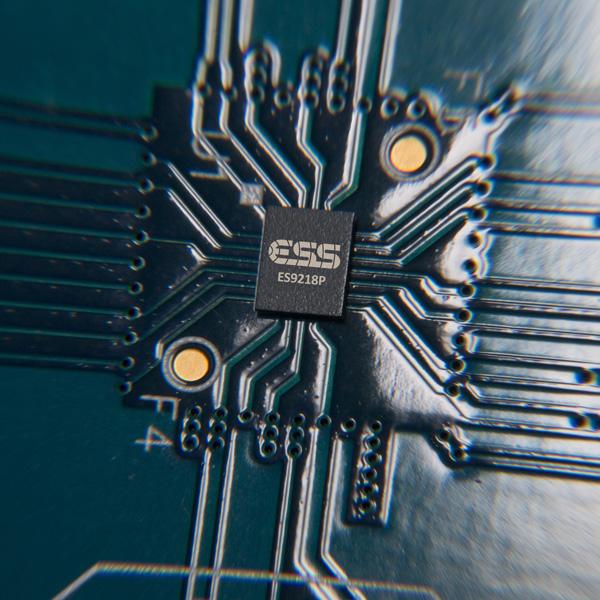 ↑オーディオ製品にも多く採用されるESS TechnologyのDAC ICチップを搭載した