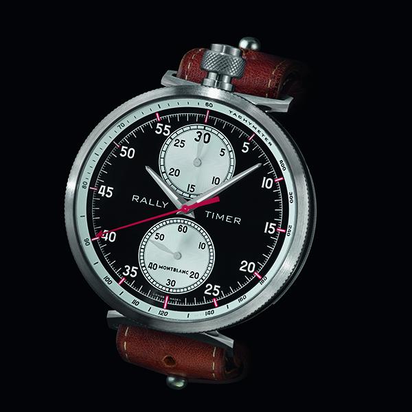 「モンブランラリータイマークロノグラフリミテッドエディション100」価格未定。直径50mm、厚さ15.2mm。3気圧防水。100本限定