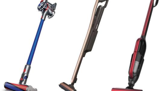 コードレス掃除機、どのメーカーから何が出てる? 最新12モデルの機能とスペックを一気見せ!
