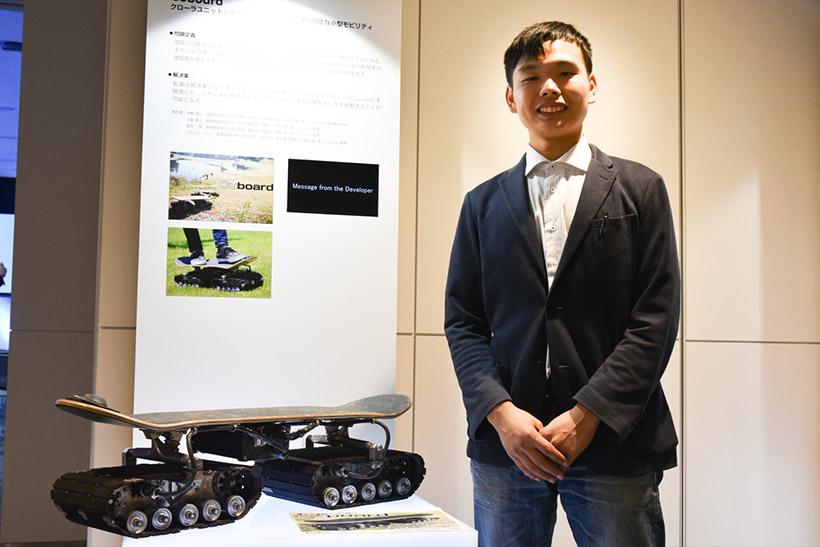 ↑長岡芸術大学大学院の学生であり、株式会社CuboRexの代表取締役社長でもある寺嶋氏